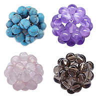 Ball Cluster Gemstone Beads