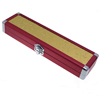 Aluminum Necklace box, with Zinc Alloy, Rectangle, plated, with flower pattern, red, 65x250x37mm, Sold By PC