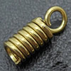 Brass Cord Coil, plated, more colors for choice, 4x10mm, Hole:Approx 2mm, 4000PCs/Bag, Sold By Bag