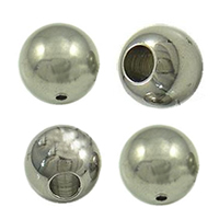 Stainless Steel Half Drilled Beads