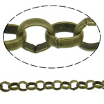 Iron Rolo Chain, plated, more colors for choice, nickel free, 50m/Strand, Sold By Strand