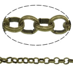Iron Rolo Chain, plated, more colors for choice, nickel free, 100m/Strand, Sold By Strand