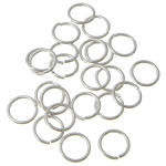 Sterling Silver Open Jump Ring, 925 Sterling Silver, Donut, plated, more colors for choice, 0.7x6mm, 500PCs/Bag, Sold By Bag
