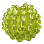 Woven Glass Seed Beads, with Acrylic, Round, handmade, more colors for choice, 14mm, Hole:Approx 3mm, Sold By PC