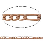 Iron Figaro Chain, with Brass, original color, nickel, lead & cadmium free, Sold By m