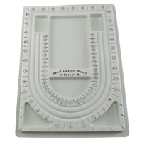 Bead Design Board, Plastic, Rectangle, 240x325x15mm, Sold By PC