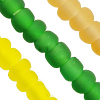 Frosted AB Colors Glass Seed Beads