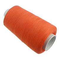 Sewing Thread, Cotton, reddish orange, 0.2mm, Sold By PC