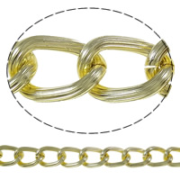 Aluminum Twist Oval Chain, plated, more colors for choice, nickel, lead & cadmium free, 16x23x3.6mm, Sold By m