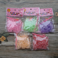 Loom Bands, Rubber, with Plastic, different packing style for choice & attachted crochet hook & with plastic S clip & for children, mixed colors, 2mm, Sold By Bag