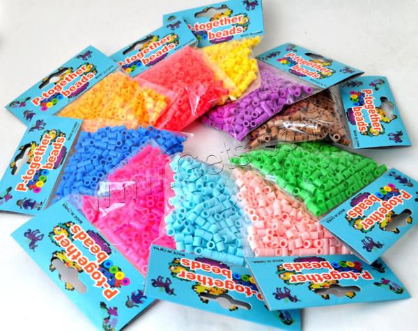 Hama Fuse Beads, Plastic, Column, mixed colors, 5mm, Approx 500PCs/Bag, Sold By Bag