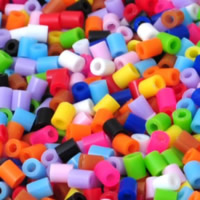 Hama Fuse Beads, Plastic, Column, mixed colors, 2.6mm, Approx 62000PCs/KG, Sold By KG