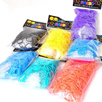 Loom Bands, Rubber, with plastic C clasp or S clasp & DIY & for children & high elastic, mixed colors, 2mm, 600PCs/Bag, Sold By Bag