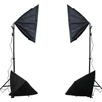 Photography Light Kit, Aluminum, softbox & ​light stand, with Lylon, stoving varnish, 500x700mm, Sold By Set