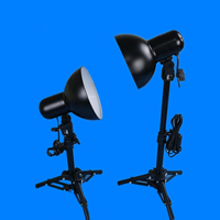 Photography Light Kit, Aluminum, lampshade & ​light stand, stoving varnish, nickel, lead & cadmium free, 260-400mm, Sold By Pair