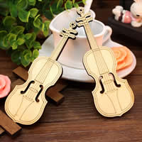 Jewelry Photo Props, Wood, Violin, Carved, 45x130mm, Sold By PC