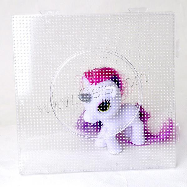 Hama Fuse Beads Pegboard, Plastic, Square, 2.6mm DIY fuse Pegboards & transparent, white, 145x145mm, Sold By PC