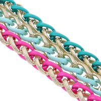 Aluminum Wheat Chain, electrophoresis, more colors for choice, nickel, lead & cadmium free, 15x21x4mm, Sold By m