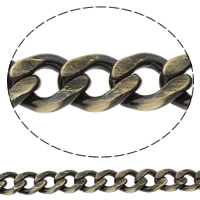 Aluminum Curb Chain, antique bronze color plated, brushed, nickel, lead & cadmium free, 16x20x4mm, Sold By m