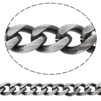 Aluminum Curb Chain, antique silver color plated, brushed, nickel, lead & cadmium free, 18x22x4mm, Sold By m