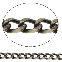 Aluminum Curb Chain, antique bronze color plated, brushed, nickel, lead & cadmium free, 9x13x2.5mm, Sold By m