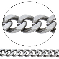 Aluminum Curb Chain, antique silver color plated, brushed, nickel, lead & cadmium free, 13.5x18x4mm, Sold By m