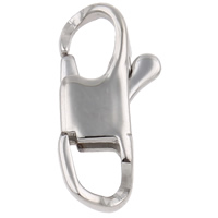 Stainless Steel Lobster Claw Clasp, different size for choice, original color, Sold By PC