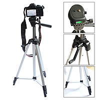 Fashion Camera Tripod, Aluminum, with Rubber, stoving varnish, retractable, nickel, lead & cadmium free, 1350mm, Sold By PC