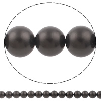 Glass Pearl Beads, Round, brown, Grade AAA, 12mm, Hole:Approx 1mm, Length:Approx 15.7 Inch, Approx 34PCs/Strand, Sold By Strand