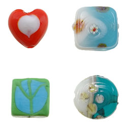 Two Tone Lampwork Beads