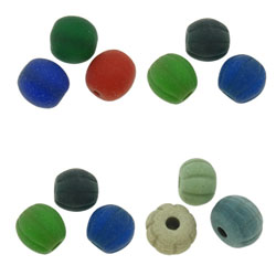 Frosted Lampwork Beads