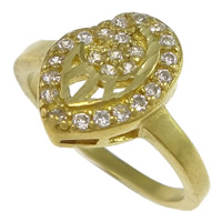Cubic Zirconia Micro Pave Brass Finger Ring, plated, micro pave cubic zirconia & hollow, more colors for choice, nickel, lead & cadmium free, 18.5mm, US Ring Size:7, Sold By PC