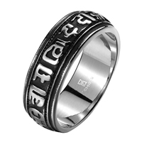 comeon® Finger Ring, Stainless Steel, different size for choice & blacken, 26x8mm, Sold By PC