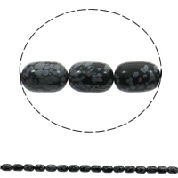 Snowflake Obsidian Bead, Column, natural, 10x14mm, Hole:Approx 1mm, Length:Approx 16 Inch, Approx 28PCs/Strand, Sold By Strand