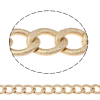 Aluminum Twist Oval Chain, gold color plated, different size for choice, nickel, lead & cadmium free, Sold By m