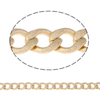 Aluminum Twist Oval Chain, gold color plated, nickel, lead & cadmium free, 12x21x4mm, Sold By m