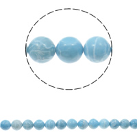 Larimar Beads, Round, natural, different size for choice, Hole:Approx 1.5mm, Length:Approx 15.3 Inch, Sold By Strand