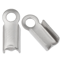 Stainless Steel Cord Tips, different size for choice, original color, Hole:Approx 1mm, Sold By Bag