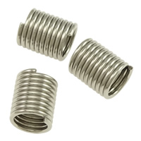 Stainless Steel Cord Coil, Column, original color, 5x6x0.7mm, Hole:Approx 4mm, Sold By PC