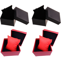Cardboard Watch Box, with Non-woven Fabrics, Rectangle, more colors for choice, 88x82x50mm, Sold By PC