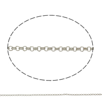 Iron Rolo Chain, plated, more colors for choice, nickel, lead & cadmium free, 2x1mm, Sold By m
