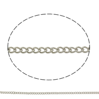 Iron Twist Oval Chain, plated, more colors for choice, nickel, lead & cadmium free, 5x4x1mm, Sold By m