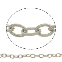Iron Oval Chain, plated, more colors for choice, lead & cadmium free, 16x11x2.5mm, Sold By m