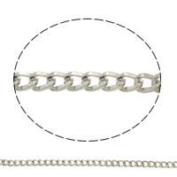 Iron Twist Oval Chain, plated, more colors for choice, nickel, lead & cadmium free, 8x6x1.5mm, Sold By m