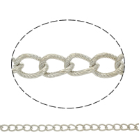 Iron Twist Oval Chain, plated, more colors for choice, nickel, lead & cadmium free, 14x10x2mm, Sold By m
