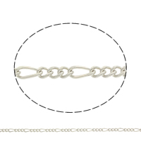 Iron Figaro Chain, plated, more colors for choice, nickel, lead & cadmium free, 10x5x1mm, Sold By m