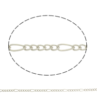 Iron Twist Oval Chain, plated, more colors for choice, nickel, lead & cadmium free, 10x4x1mm, Sold By m