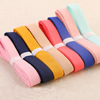 Linen Cotton Ribbon, mixed colors, 10mm, 100Strands/Bag, 1m/Strand, Sold By Bag