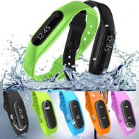 Smart Sport Bracelet, Silicone, with Glass & Iron, LED, more colors for choice, 47x17x10.5mm, Length:Approx 9 Inch, Sold By PC