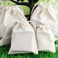 Linen Jewelry Pouches, with Cotton Cord, different size for choice, Sold By PC